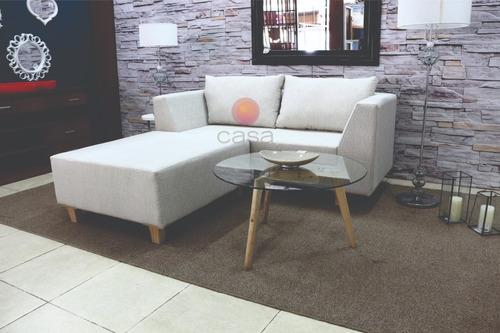 sofa esquinero 180x180 tapizado en lino