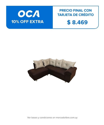 sofa esquinero juego de living sillon marron dallas