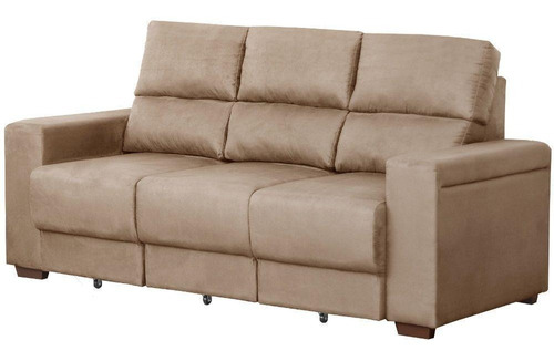 sofá gralha azul betta 3 lugares retrátil