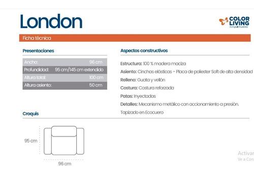 sofa individual reclinable poltrona london plus altadensidad