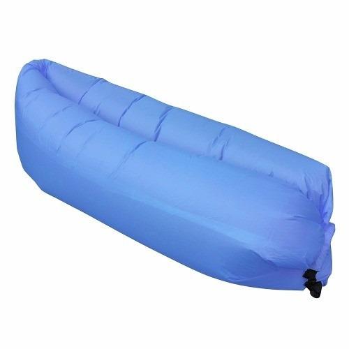 sofá inflável ar cama praia acampamento saco dormir lay bag