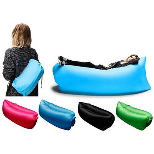 sofa inflavel ar cama praia acampamento saco dormir =lay bag