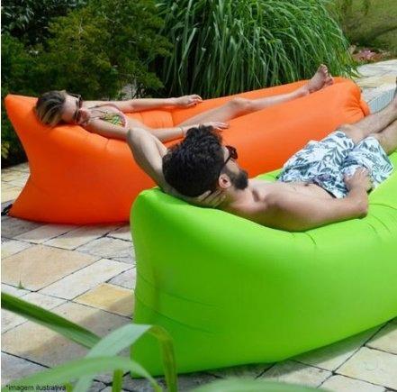 sofa inflavel atrio chill bag verde es139