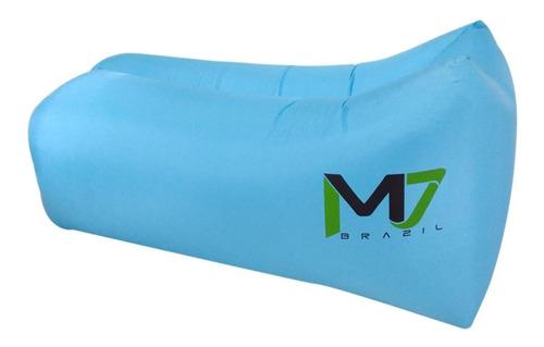 sofá inflável de ar m7 brazil nylon camping praia azul
