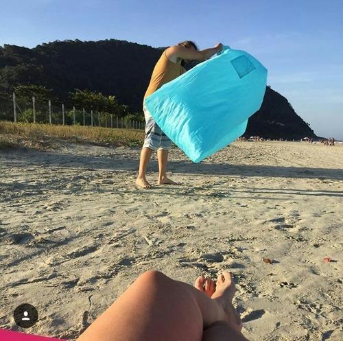 sofa inflavel praia camp acampamento laser novidade oferta
