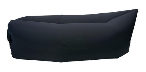 sofá inflável preto para praia e camping - ezbag