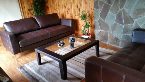 sofa lake color chocolate como nuevo