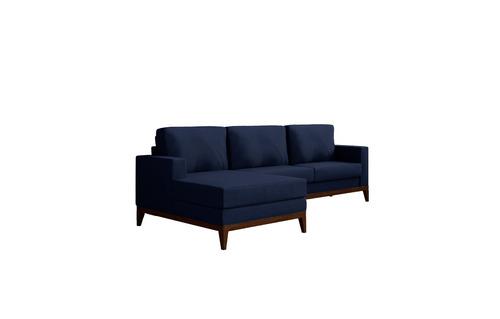sofá lina luna novo retro macio luxo chess chaise 3 lug