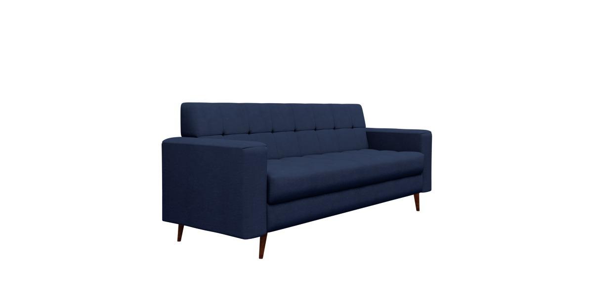 Sofa Lina Pe Base Madeira Luxo Novo Moderno Lan 231 Amento