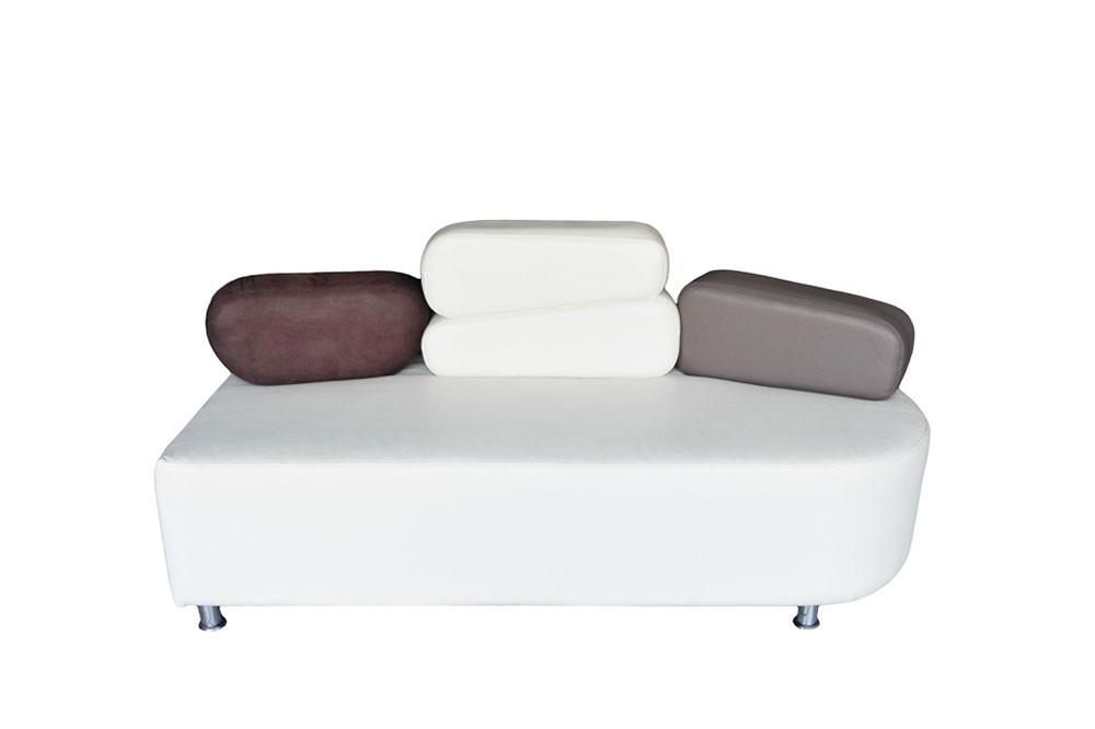 Sofa lounge puff minimalista salas love seat ocasional for Sofa minimalista