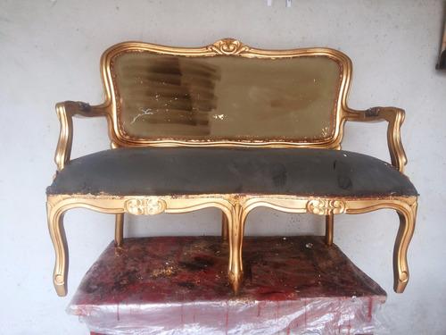sofa luiz xv dourado