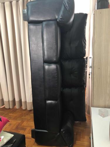 sofá luizzi preto de couro