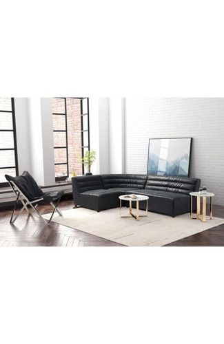 sofa modelo soho - negro këssa muebles