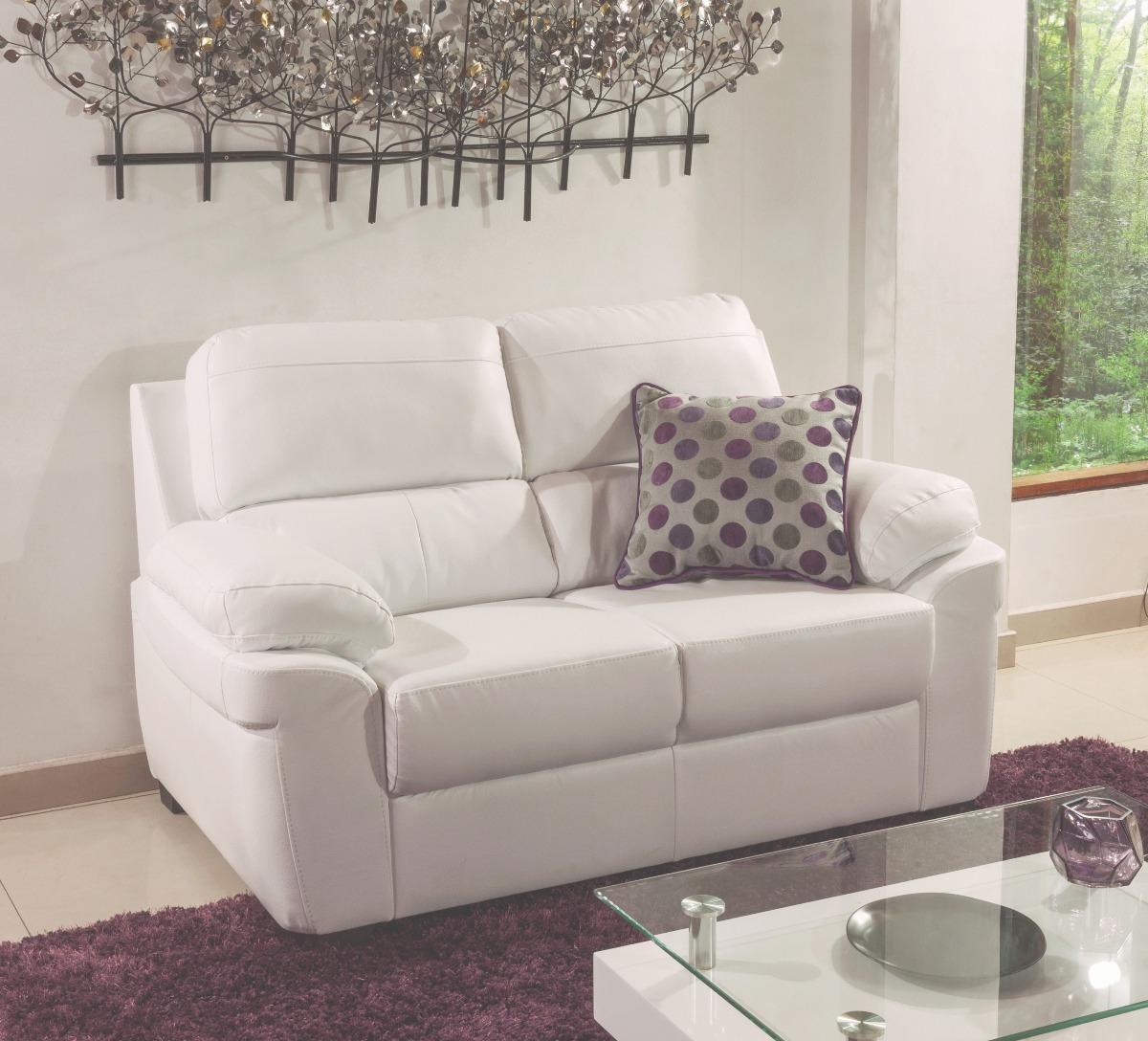 Sof moderno de 2 puestos tapizado tela o ecocuero tur n en mercado libre - Tela tapizado sofa ...