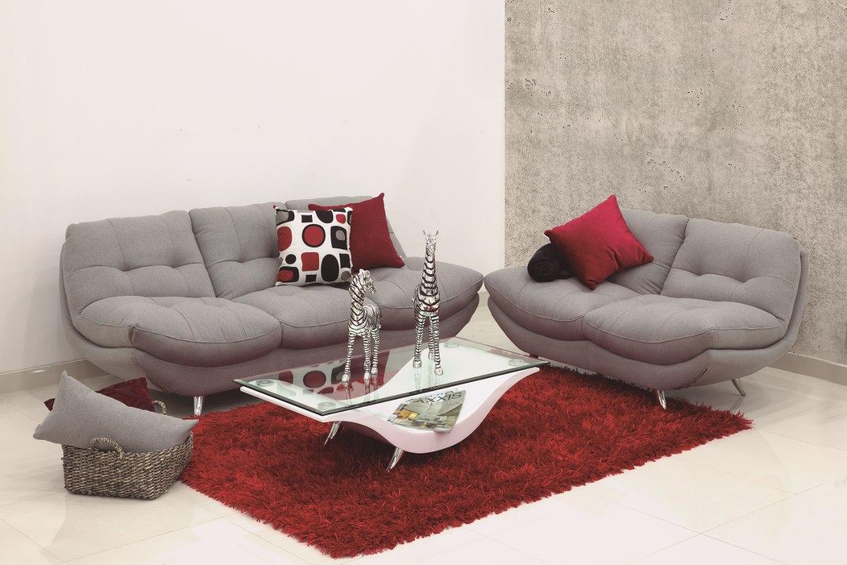 Sofa Moderno De 3 Ptos Para Sala En Tela O Ecocuero Atenas