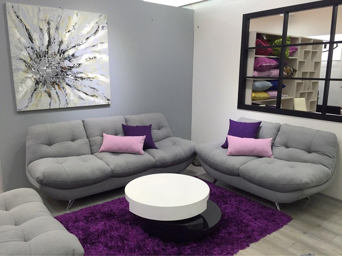 sof moderno de ptos para sala en tela o ecocuero atenas