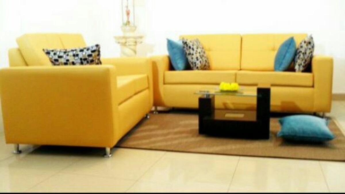 Sofa Modernos De Tres Puestos Somos Fabricantes Bs 64 981 480  # Muebles Color Mostaza