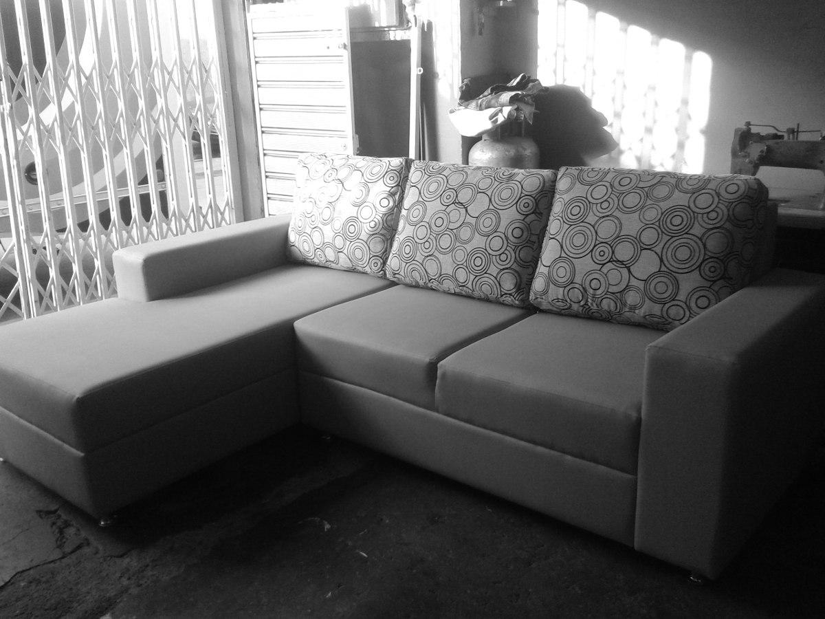 Sof modular tipo l de lujo mueble en telas o semicuero bs en mercado libre - Telas de tapicerias para sofas ...