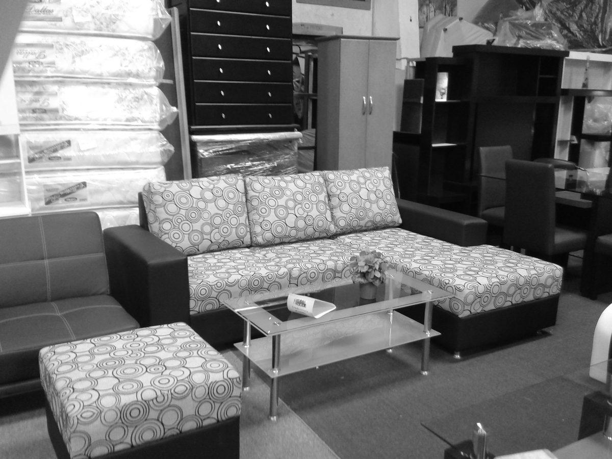 Sof modular tipo l de lujo mueble en telas o semicuero for Sofas modulares de tela