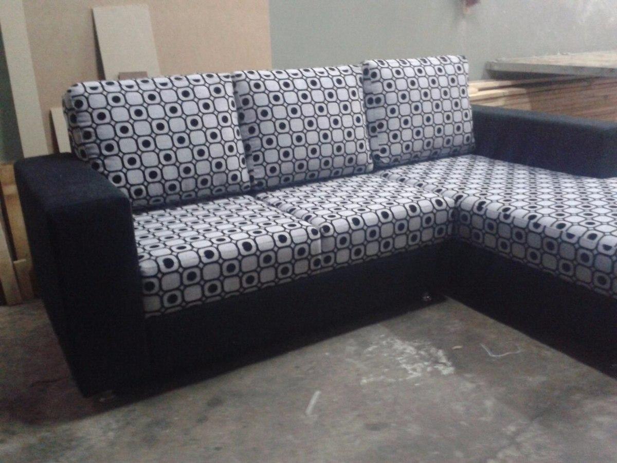 Sof modular tipo l de lujo mueble en telas o semicuero for Sofa modular tela