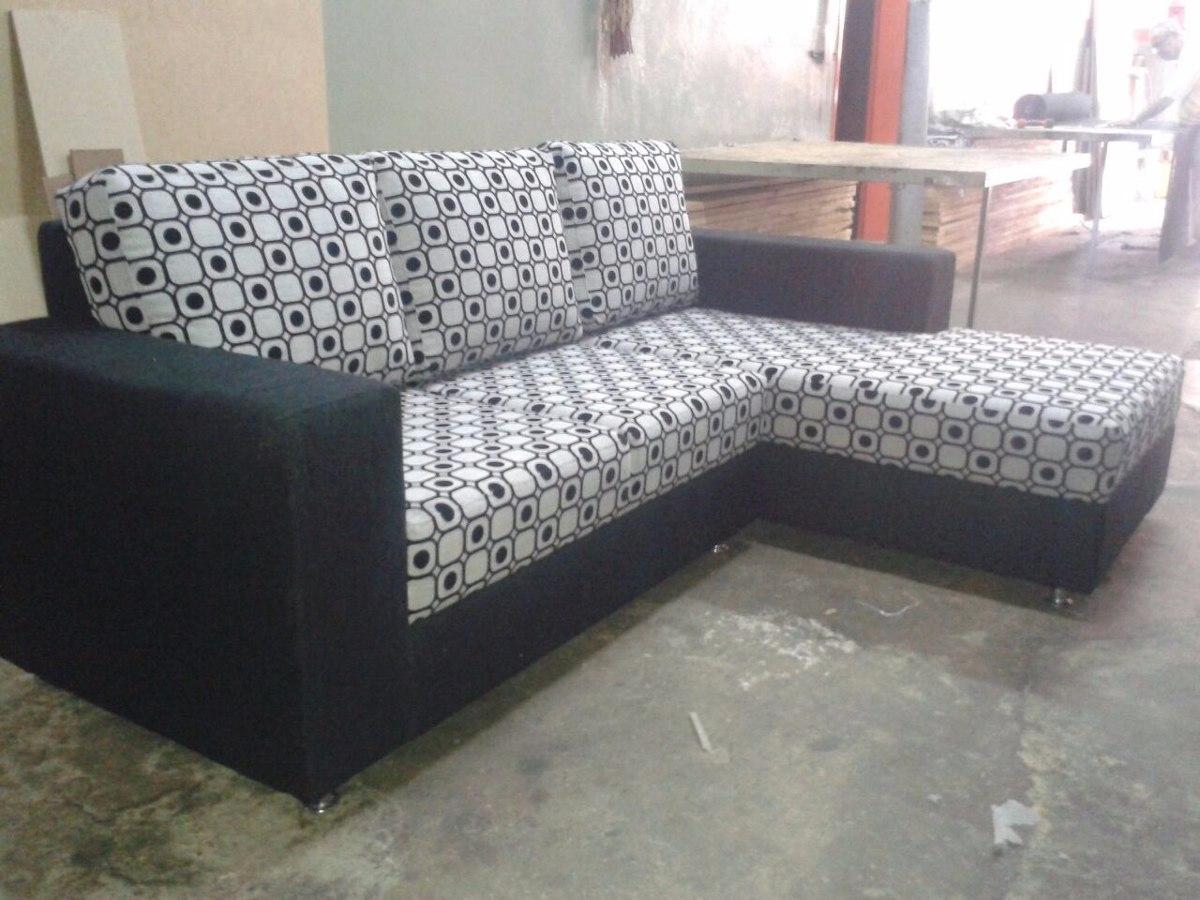 Sof Modular Tipo L De Lujo Mueble En Telas O Semicuero Bs  # Muebles En Semicuero