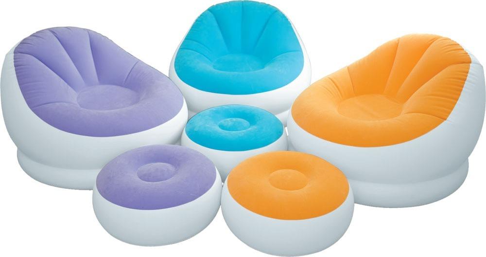 Sofa Mueble Inflable + Puff Intex - 2 Piezas - S/ 110,00 en Mercado ...