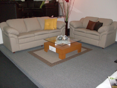 sofa muebles juego de sala clasico en bipiel somos fabrica