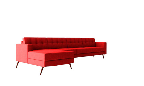 sofá novo living chaise chess pés base ou palito 4 lugares