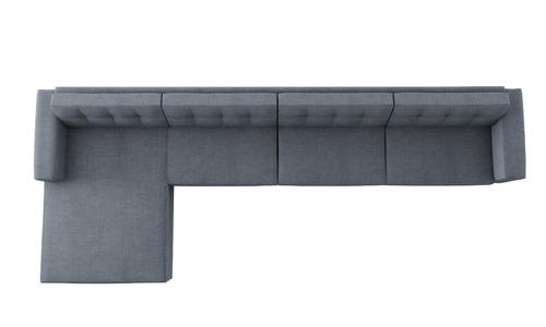 sofá novo moderno living chaise pé palito 4 lugares cinza