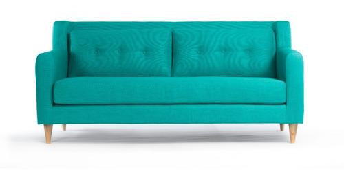 sofá oporto 3 cuerpos - turquesa