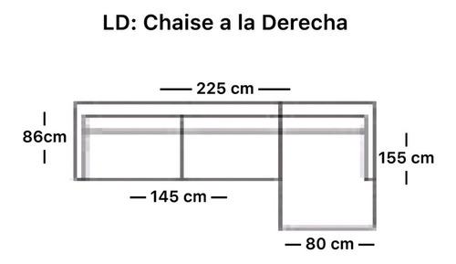 sofá oporto seccional - grafito