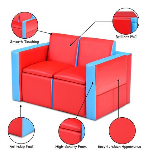 sofa para niños y juego de mesa y sillas 2 en 1