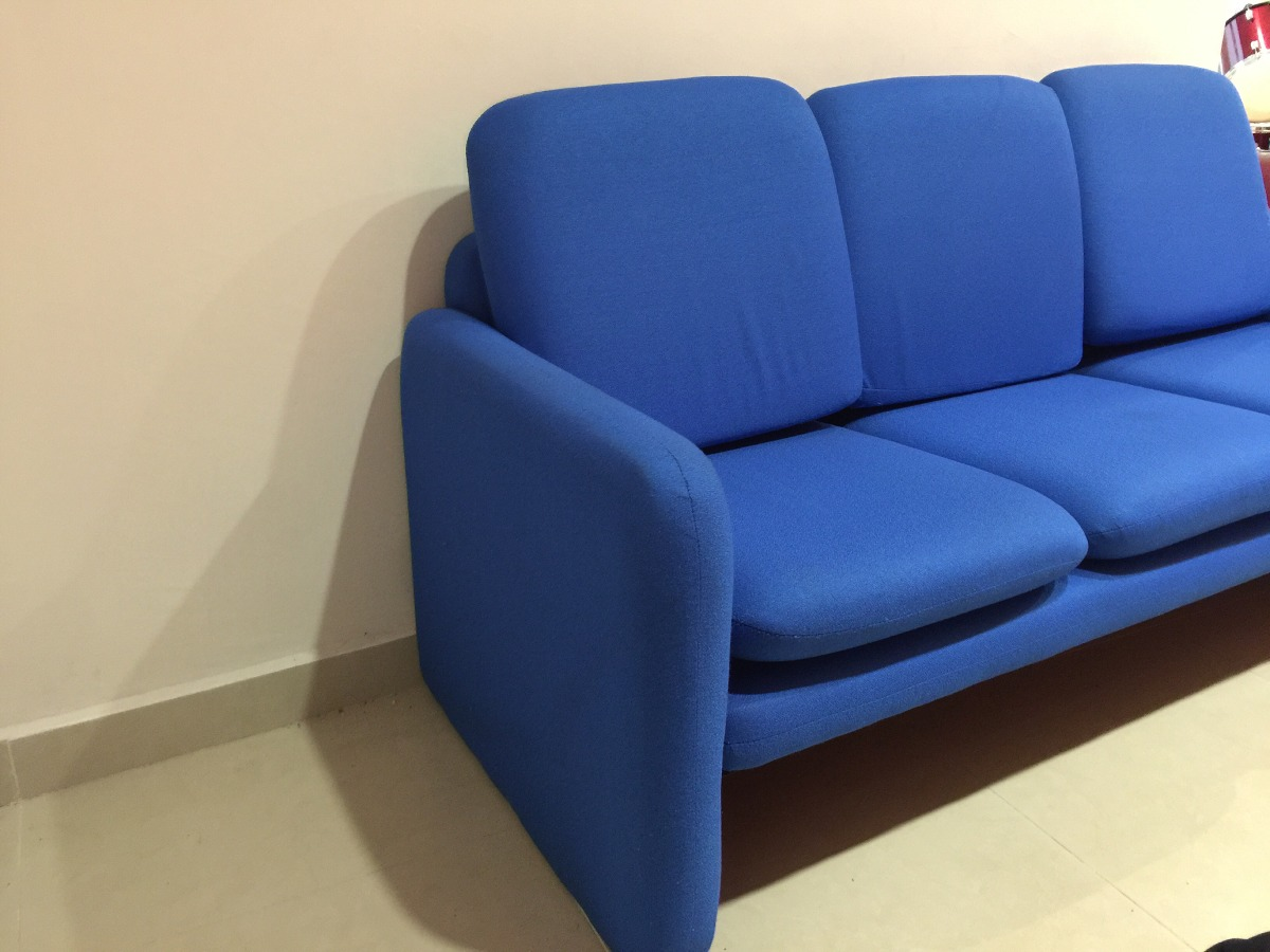 Sof para oficina azul 10 en mercado libre for Sofa oficina