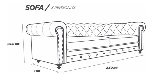 sofa piel genuina  - chesterfield - conforto muebles