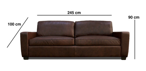 sofa piel genuina  - maxwell - confortopiel