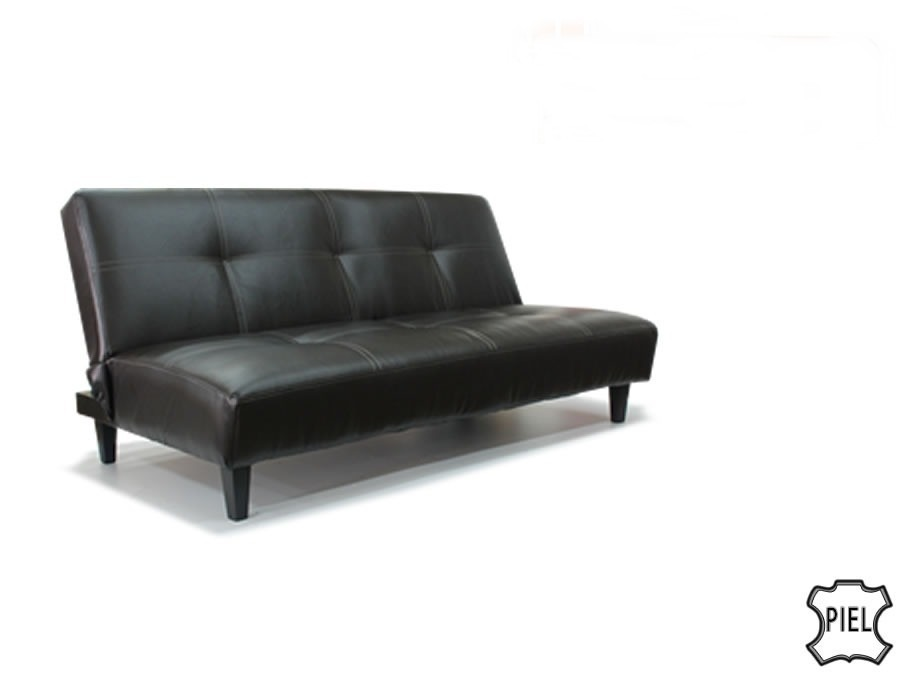 Sofa piel real futon sofacama nuevo sala sillon envio for Sofas marcas buenas