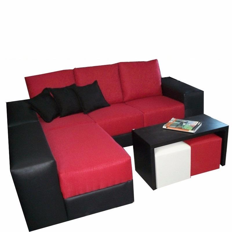 sofá + puf, isla, sillón lineas rectas, cómodo, moderno gh