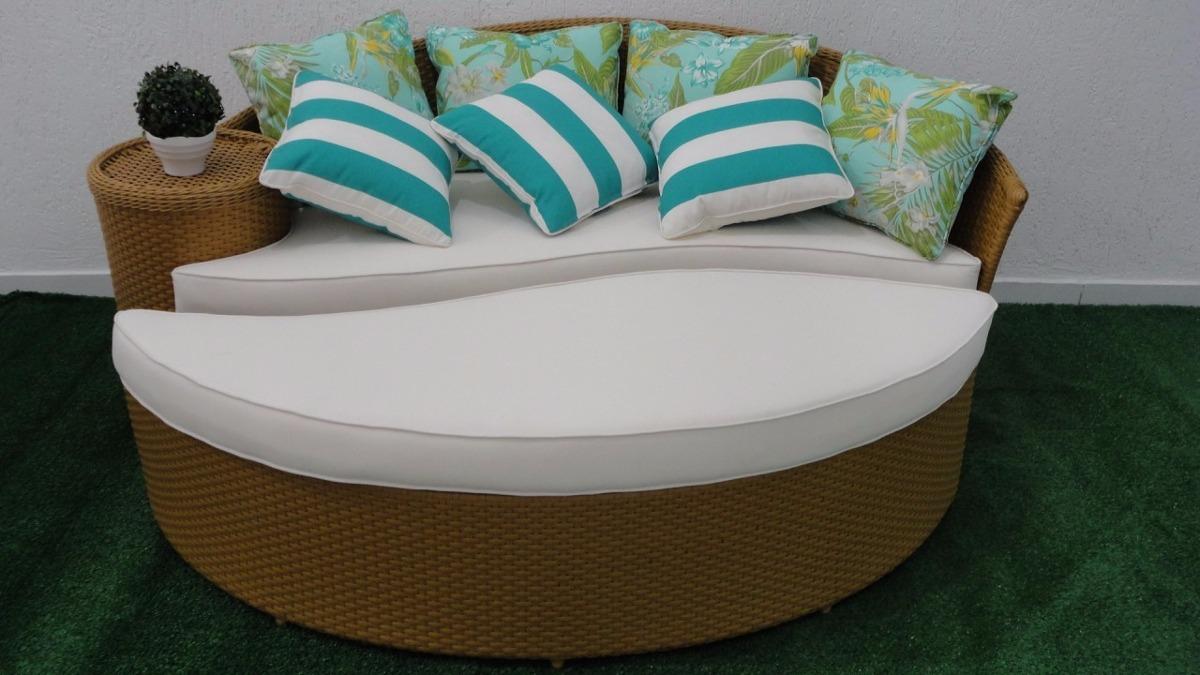 Sofa + Puff Dubai Para Area Externa Sala Jardim Piscina ...