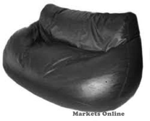 sofa puff   en ecocuero negro