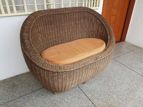 sofa rattan para jardin o porche