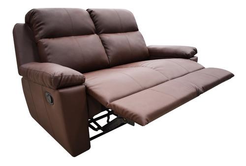 sofá reclinable 2 puestos marsella cuero sintético