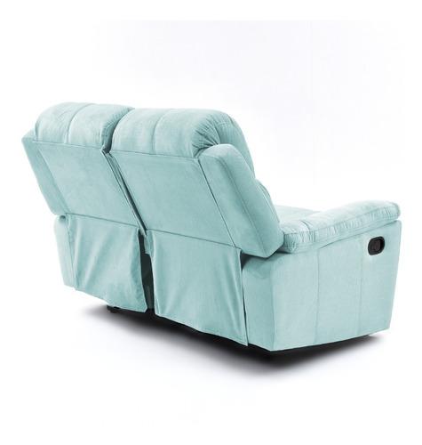 sofá reclinable 2 puestos marsella tela