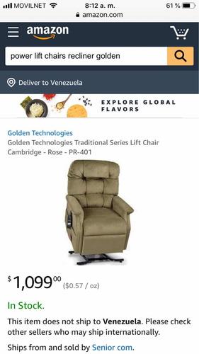 sofá reclinable multiposicion electrico medicinal código 950