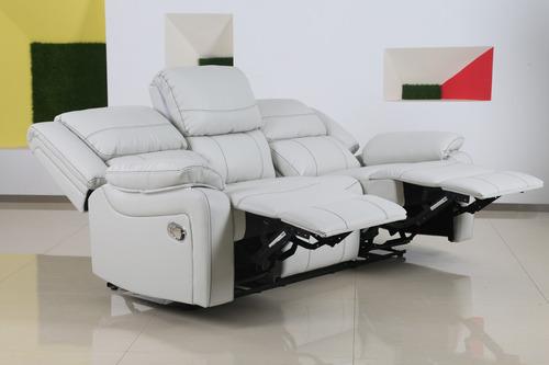 sofa reclinable philippe 3 cuerpos en similcuero