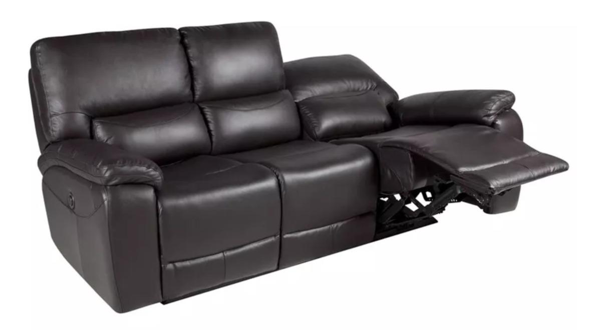 Sofa Reclinable Poch 3 Cuerpos Cuero - $ 1.050.000 en Mercado Libre