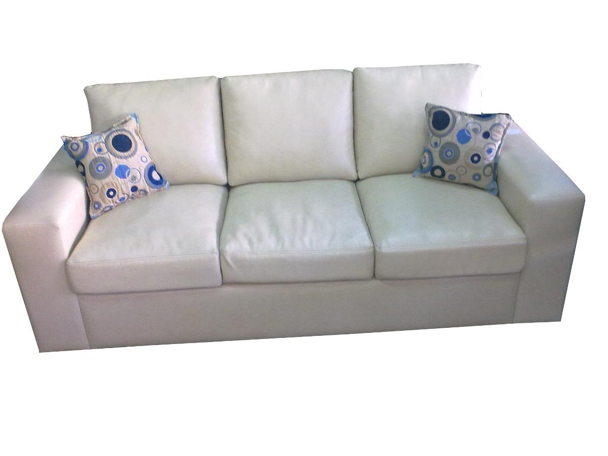 Sof recto minimalista moderno sill n 3 cuerpos c modo for Sofa minimalista