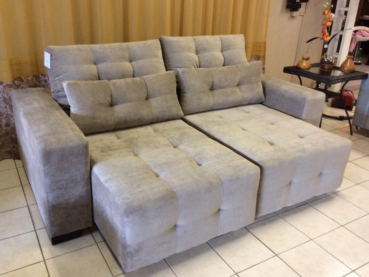 Sofa retratil 2 lug p 4 pessoas novo r em - Sofas pequenos medidas ...