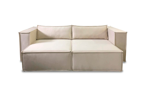 sofa retratil 3 lugares 2.40m - mod. los angeles - ( suede)