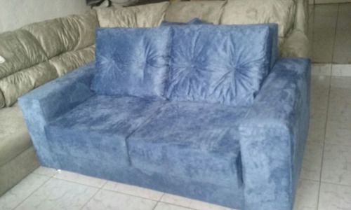 sofá retrátil dois lugares