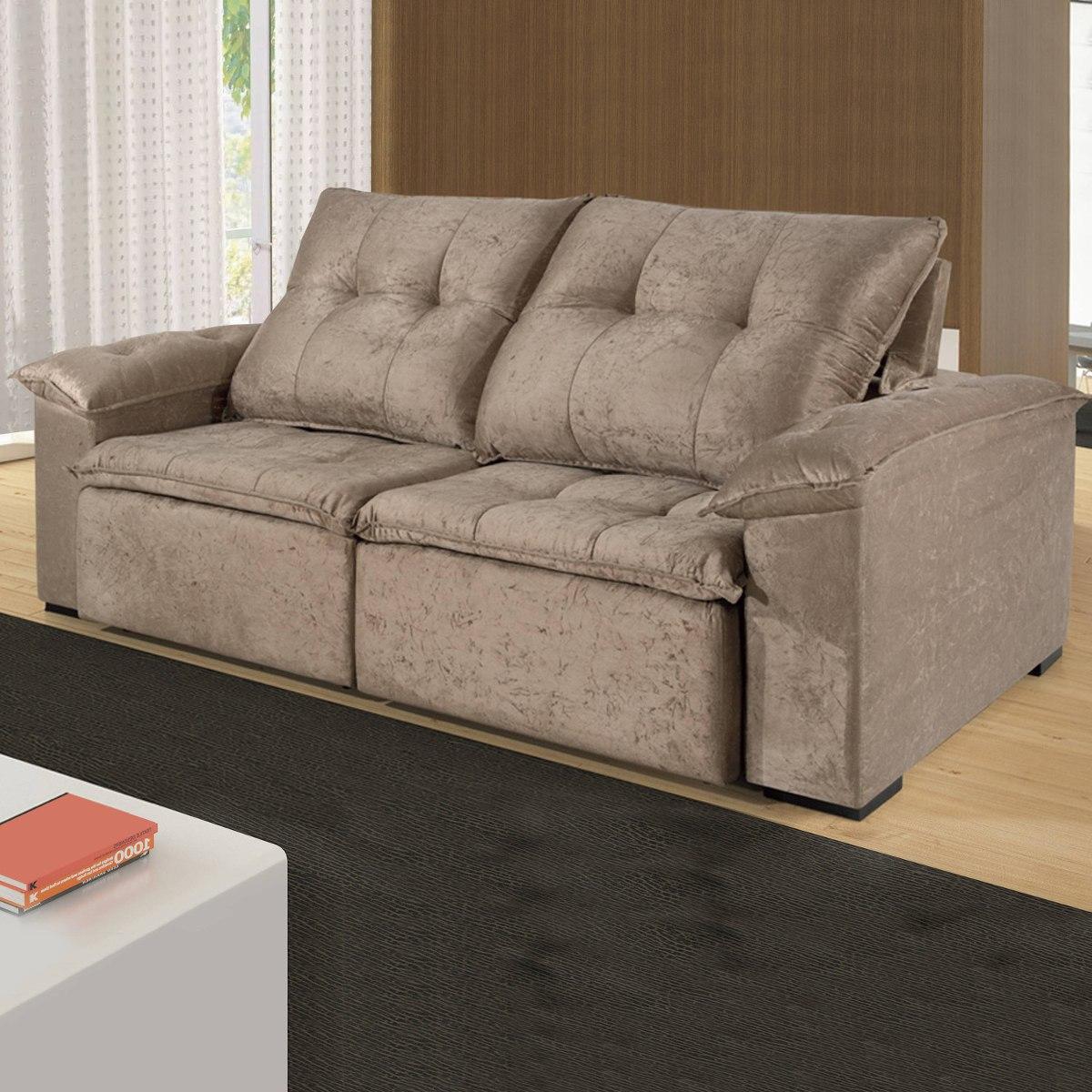 Sofa Retratil E Reclinavel 2 Lugares Karla Bh R 2 899 90 Em Mercado Livre